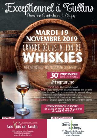 MARDI 19 NOVEMBRE 2019 GRANDE DEGUSTATION WHISKIES